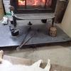 ストーブは朝から ミツバチと猫 Firewood stove is burning in the morning