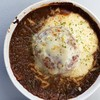 今日のお昼は、ハンバーグカレードリア