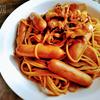 キムチとコチュジャンの甘辛スパゲッティ