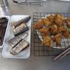 幸運な病のレシピ( 1234 )朝 :サンマ、鶏唐揚(カレー味)、牛肉と根菜のキンピラ照り焼き、蕨とタケノコの味噌汁