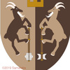 山羊の紋章、横向きのヒゲ山羊