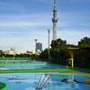 Enjoy public swimming pool in Asakusa