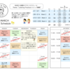 3月のスケジュールと表現のクラステーマ