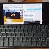 【Gemini PDA】画面分割は横画面Androidで使いやすいことを実感