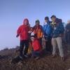 鹿島槍ヶ岳(2889m) 二回目の山頂は曇り