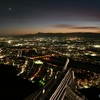 金華山展望台と岐阜城から見た夜景 ―霞む山並みと長良川と岐阜の街並みー
