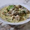 三軒茶屋の「サンバレーホテル」でYakhni (別バージョン)、Kashmiri Homestyle ChickenCurry。
