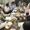 リレー講は日本テレビの粕谷局長。夜jは知研セミナーで八木会長。