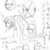 【11】  2/27 「めっちゃナナメ横顔 アタリ や 描きかたを考える」①