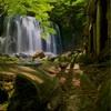 【滝】達沢不動滝。カメラマンにも人気の高い猪苗代の滝