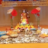 ヒンドゥー教の女神サラスヴァティの祭りでカレーを食べた
