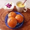 くるみパン、コーンスープ、バナナヨーグルト。