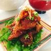 鶏皮の生姜焼き