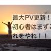 ブログ始めて以来、最大PV!初心者がまずやること。
