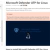 Microsoft Defender ATP for Linux がプレビューリリースされました