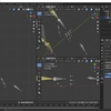 Blender2.8でIK(インバースキネマティクス)を使った人型アーマチュアを作成する その7(指の握り 前半)
