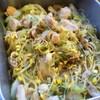 鶏肉と大豆もやし、セロリの中華炒め