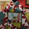 紫陽花絹紅梅×露芝絽名古屋帯