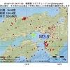 2016年11月21日 06時17分 播磨灘でM3.9の地震