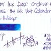 #0934 DIAMINE the Ink Vent Calender Happy Holidays