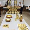 歴博講座「三河仏壇伝統工芸士の技に学ぶ」の金箔講座が行われました