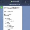 LINEモバイルと楽天モバイルの使用量(前月分)