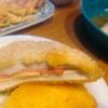 鱈おろし煮、はんぺん挟み揚げ、玉子焼き、キャベツ