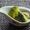 ブロッコリーとアスパラガス、椎茸の梅酢煮浸し