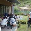 ブルーベリー→苗木の植替え、摘みとり研修