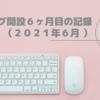 ブログ開設6ヶ月目の記録(2021年6月 )