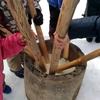 ③猪苗代湖モビレージのイベント【餅つき】と雪の中の撤収作業
