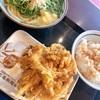 【グルメ】丸亀製麺で食べた、かけうどん+天丼✨
