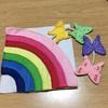 フェルトの布絵本④虹と蝶々