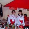 土砂降りの雨の中〜♪日本伝統文化フェスタの利き酒ブースでお手伝いしてきました。
