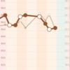 3カ月チャレンジと体重の推移。