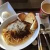 新メニューのクリーミーボロネーゼを食べる。生パスタ使用しています。 (@ アーバングローブカフェ in 豊島区, 東京都)