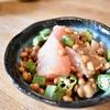 【男の料理】ぜいたく納豆朝食。晩飯は生姜焼き定食