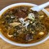 中区長者町の「華隆餐館」で高菜牛肉刀削麺