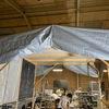 日除けブースの補修と彫刻鏡の部屋のダクト作り
