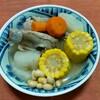 生のトウモロコシで広東スープ。夏バテ予防の薬膳料理