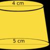 一般的なプリンの体積の求め方