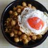 33冊目『食べ方帖』から6回めはひよこ豆とパン粉の炒め物