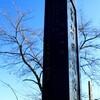 寒い日、「岩村田城址」の石碑を見て回りました。