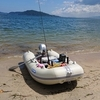 ゴムボート&2馬力で海釣り 出船3回目 メタルジグで 初ゲット 「魚探」楽しい
