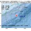2017年09月06日 03時02分 根室半島南東沖でM3.4の地震