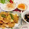 鶏肉のネギ味噌バター焼き 定食