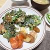 節約レシピ・鶏皮と春菊のかき揚げ