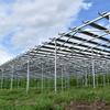 ソーラーシェアリング:建設が進む匝瑳3号機を初公開 - 新型アルミ架台のソーラーシェアリング設備