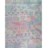 着物生地(313)楓に幾何学模様織り出し真綿小千谷紬