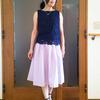 ウエストゴムのフレアスカートを昭和にならずに着る方法